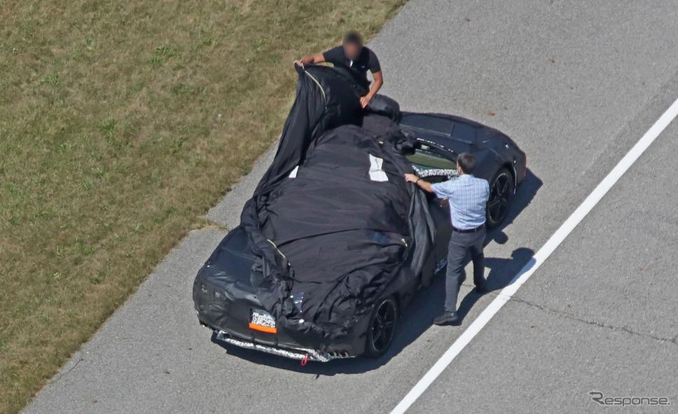 シボレー コルベット C8 スクープ写真《APOLLO NEWS SERVICE》