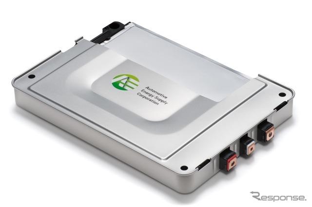 日産リーフのバッテリーモジュール(日産・NECの合弁会社オートモーティブエナジーサプライ製)