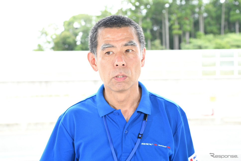 GSX-R1000Rチーフエンジニア寺田 覚さん。《撮影 雪岡直樹》