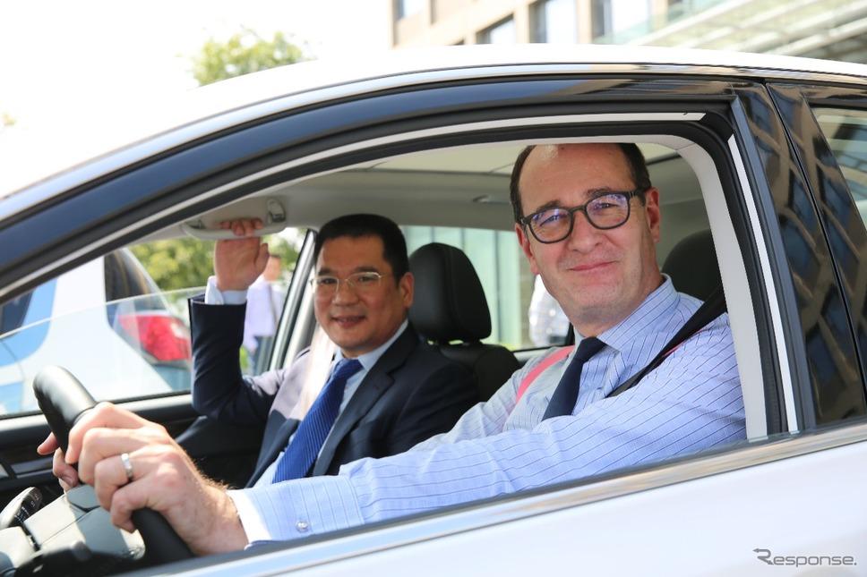 中国の衆泰汽車とフォードモーターの首脳