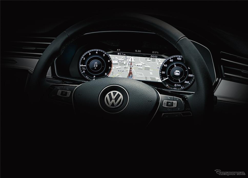 VW パサート ヴァリアント TSI エレガンスライン テックエディションデジタルメータークラスター アクティブ インフォ ディスプレイ(イメージ)