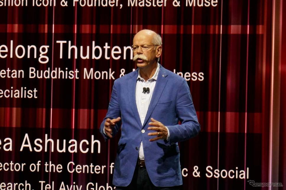 メルセデスベンツのディーター・ツェッチェ最高経営責任者(CEO)立派なひげがトレードマーク。