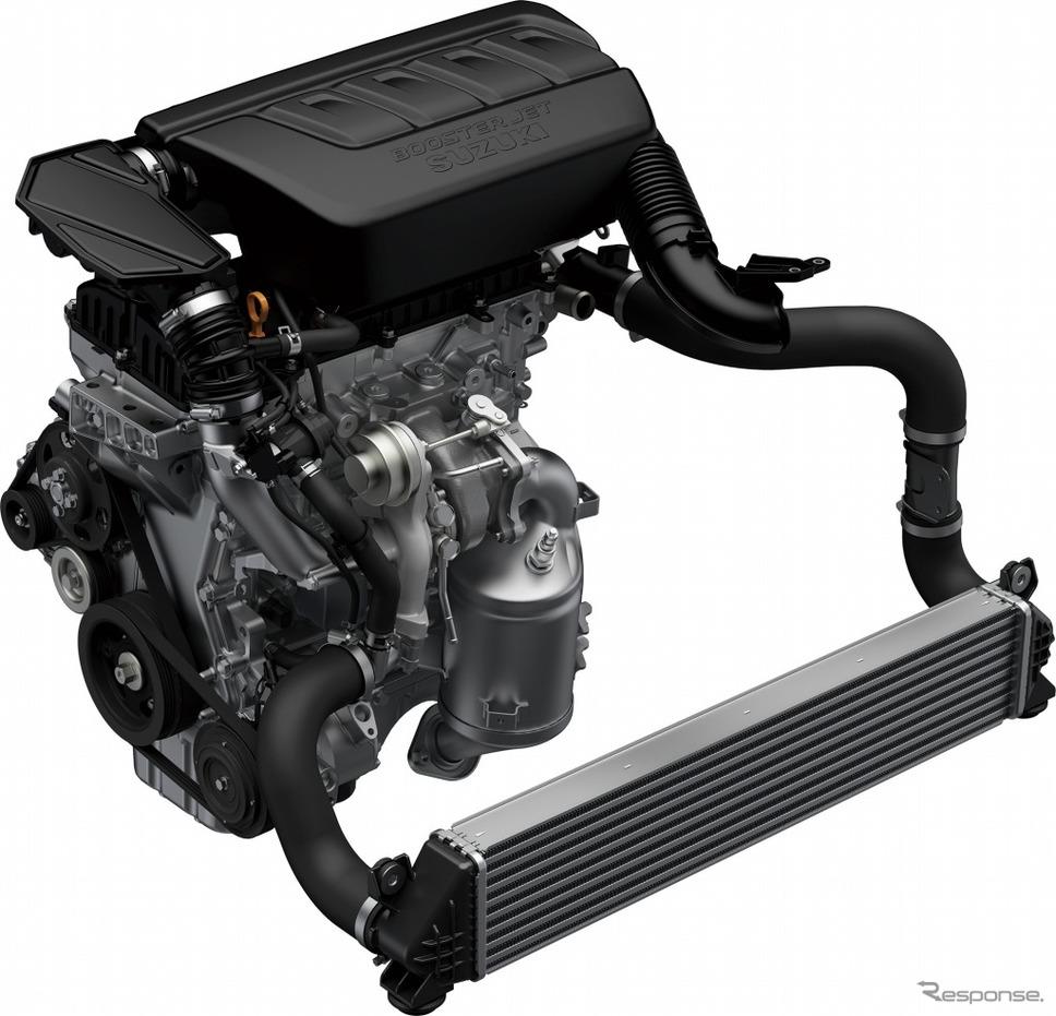 スズキ スイフトスポーツ K14C型ブースタージェット エンジン