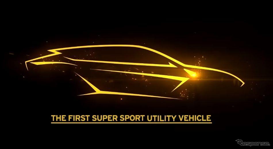 ランボルギーニの新型SUV、ウルスの予告スケッチ