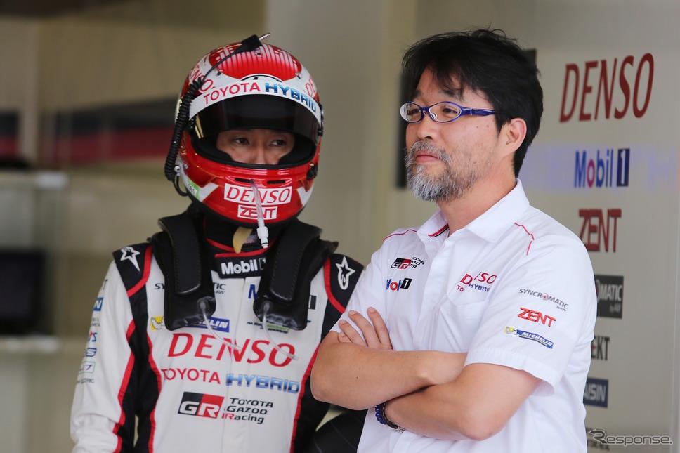中嶋一貴と村田チーム代表。《写真提供 TOYOTA》