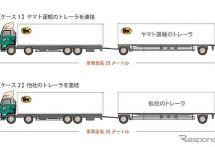 ヤマト運輸、車両長25mの連結トレーラを日本初導入へ