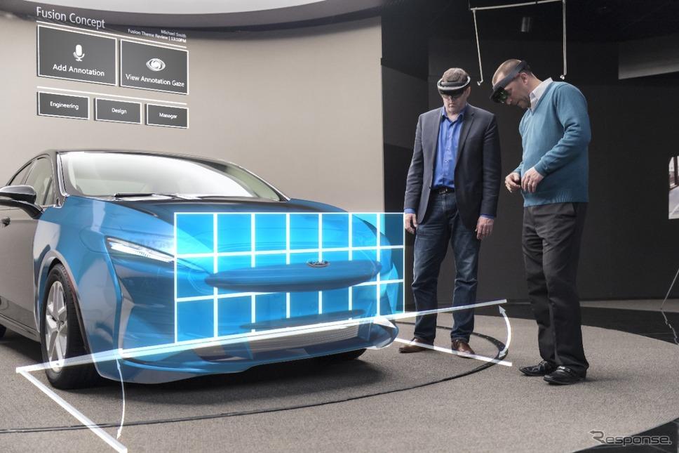 マイクロソフトの「ホロレンズ」をデザイン部門に導入したフォードモーター