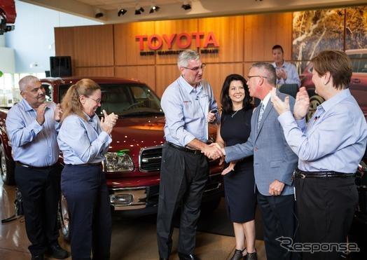 累計生産500万台を達成したトヨタの米インディアナ工場