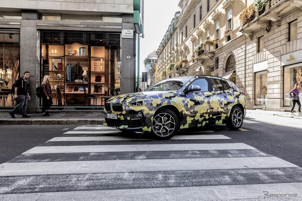 BMW X2 の最新プロトタイプ(イタリア・ミラノ)