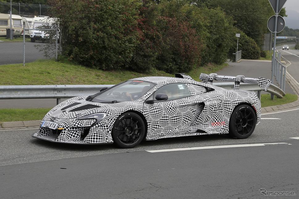 マクラーレン Hyper-GT 開発テスト車両 スクープ写真《APOLLO NEWS SERVICE》