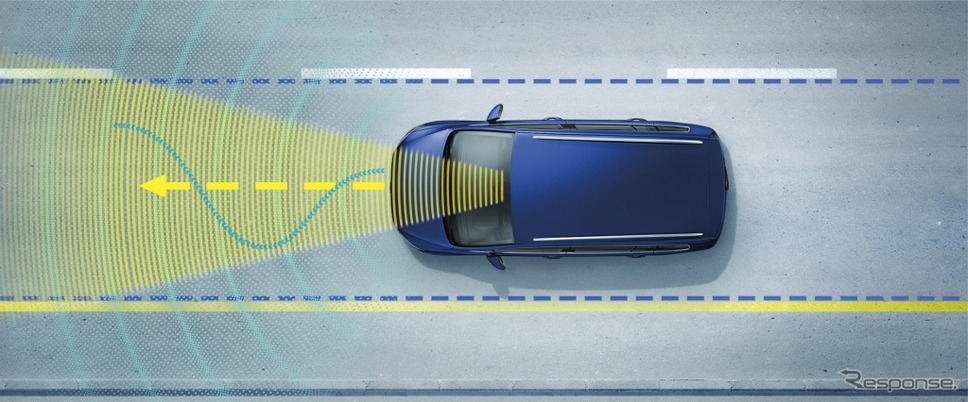"""VW ゴルフ トゥーラン TSI コンフォートライン テックエディション2レーンキープアシストシステム""""Lane Assist"""" イメージ"""