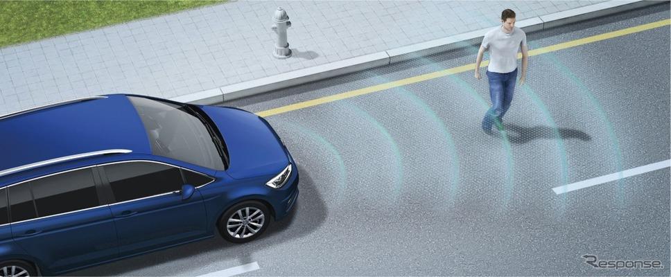 "VW ゴルフ トゥーラン TSI コンフォートライン テックエディション2プリクラッシュブレーキシステム""Front Assist""(歩行者検知対応シティエマージェンシーブレーキ機能付) イメージ"
