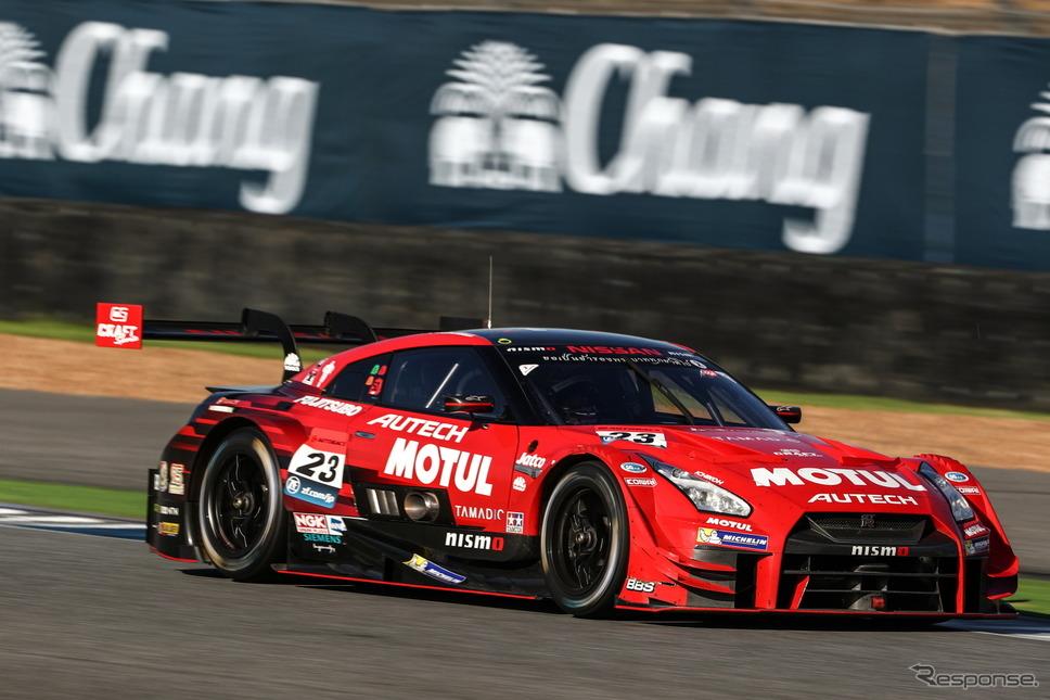 タイでポイントリーダーの座を失った#23 GT-R。GT500クラスのランク3番手で最終戦へ。《撮影 益田和久》