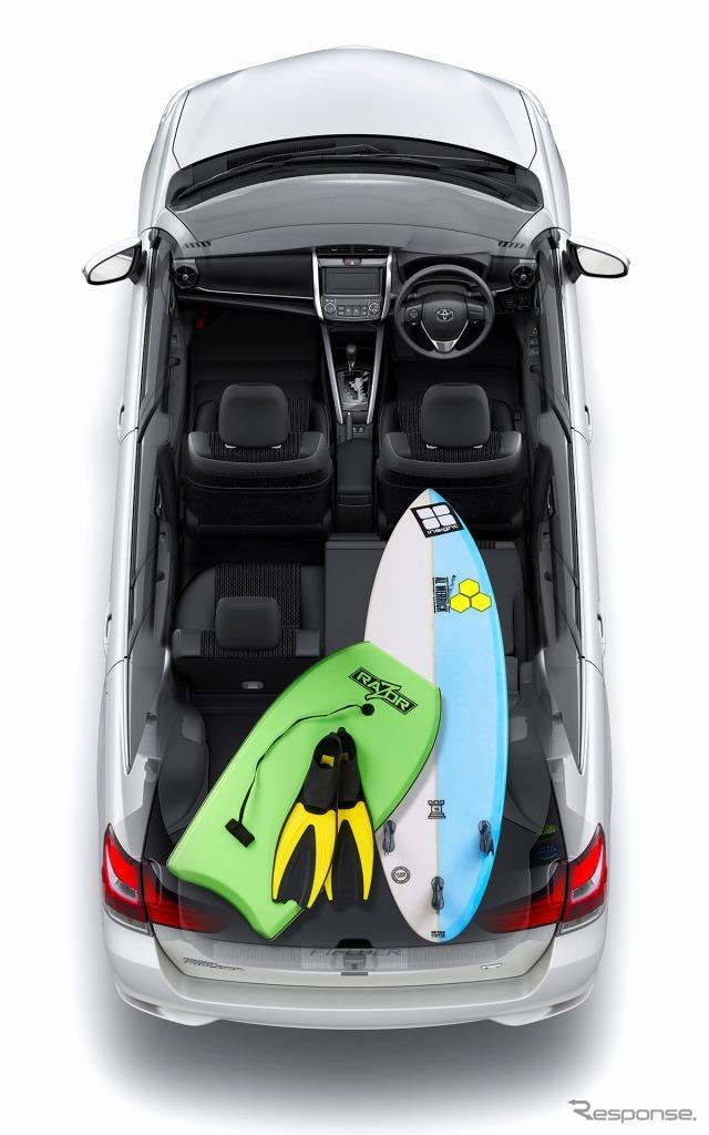 トヨタ カローラフィールダー ラゲージルーム(6:4分割モード)
