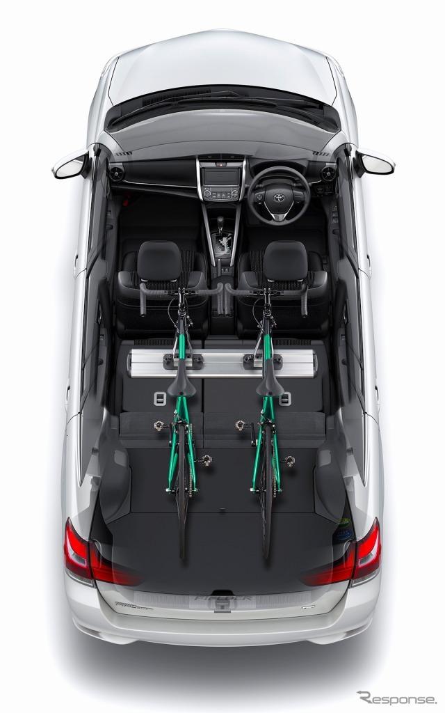 トヨタ カローラフィールダー ラゲージルーム(フラットモード)
