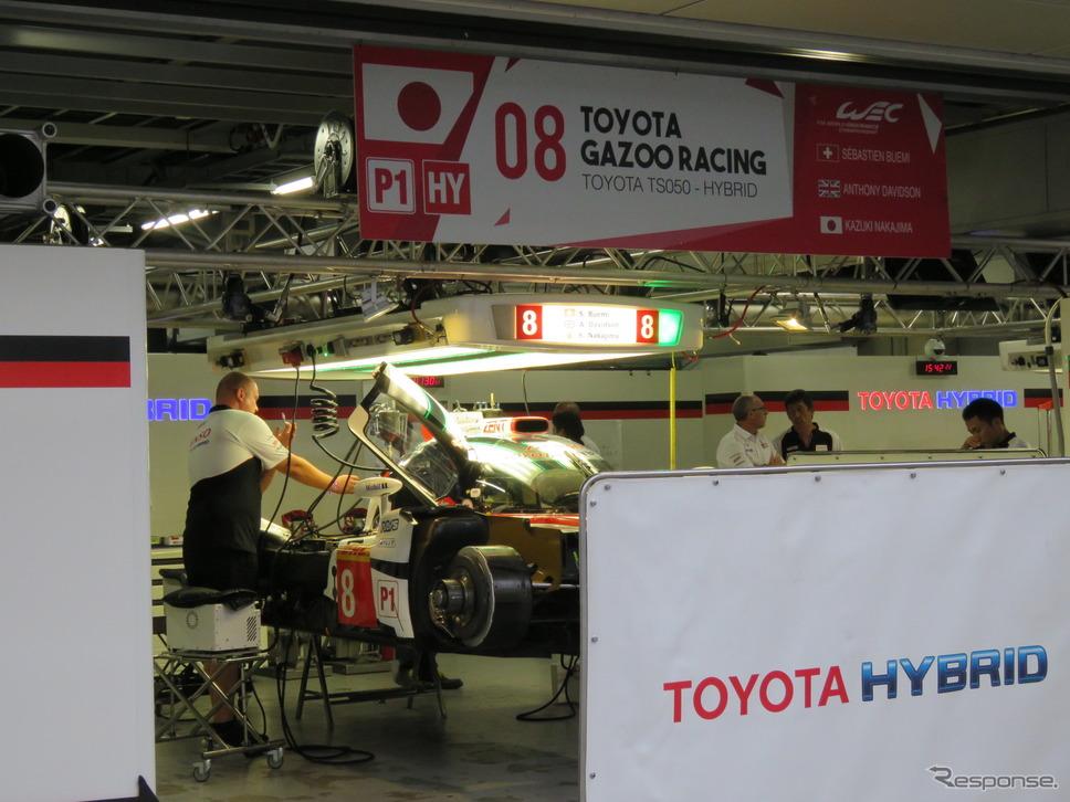 トヨタGAZOOレーシングもポルシェとの富士バトルに準備着々。《撮影 遠藤俊幸》