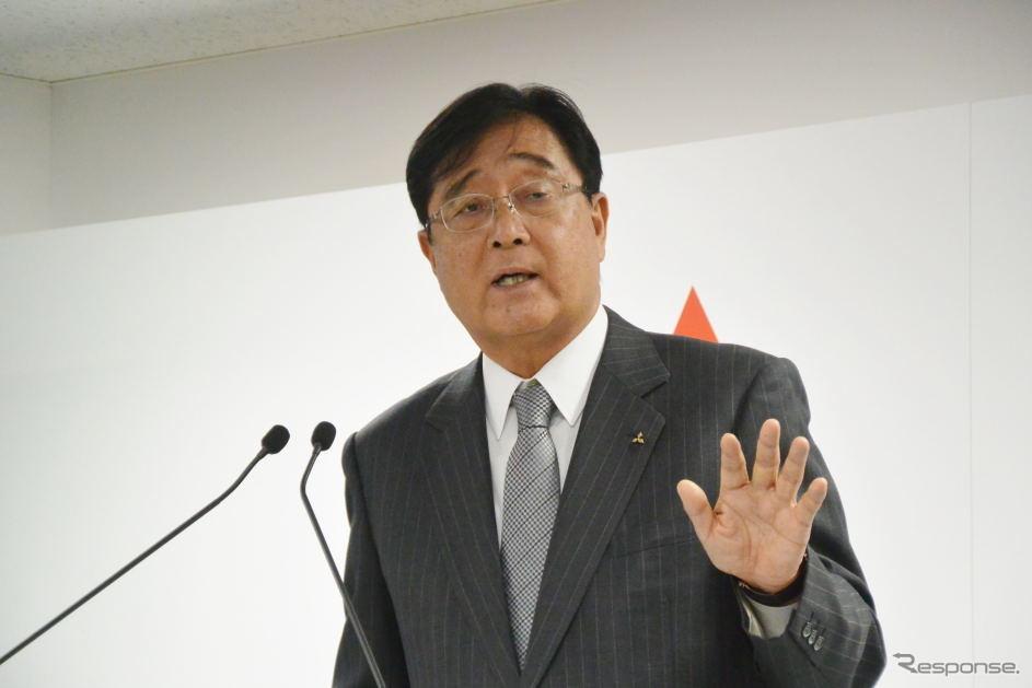 三菱自動車 益子修 CEO《撮影 小松哲也》