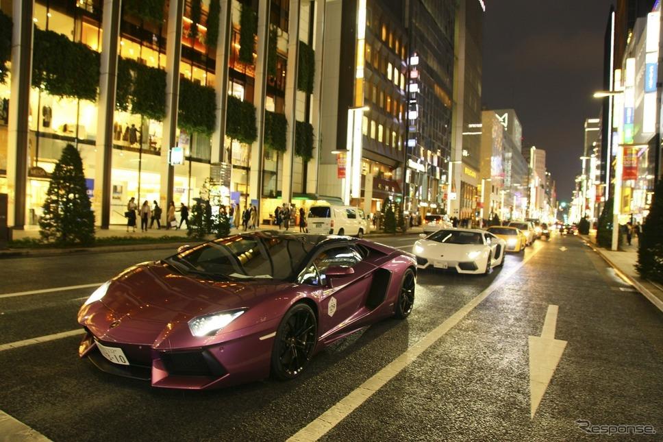ランボルギーニデイ・パレード(10月20日、東京)