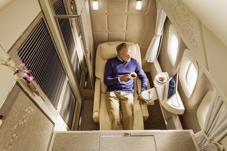 ファーストクラスの内装モチーフにメルセデスSクラスを導入したドバイのエミレーツ航空