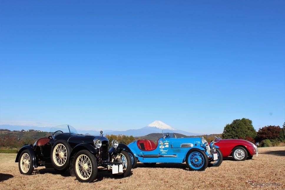 左からアミルカーCGSS、フィアット シアタ508S MM、フィアット 508S アラドーロ《撮影  内田俊一》
