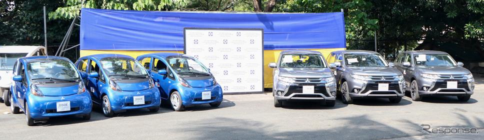 日本政府が三菱自動車の電動車をフィリピンのエネルギー省に寄贈