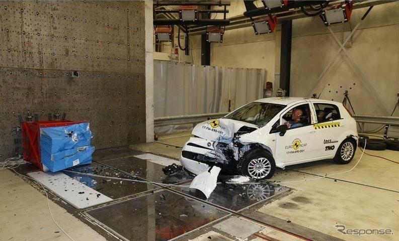 フィアット プントのユーロNCAP衝突テスト