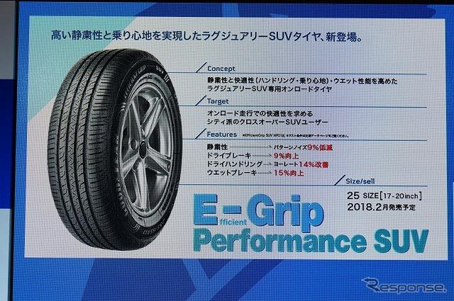 「EfficientGrip Performance SUV」は、オンロードSUV向けモデル。《撮影 石田真一》