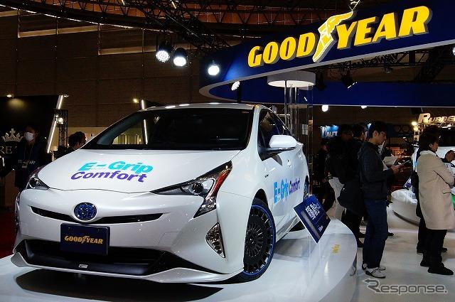 グッドイヤーは東京オートサロンの会場で「EfficientGrip (エフィシエントグリップ)」2種類の新製品を発表した。《撮影 石田真一》