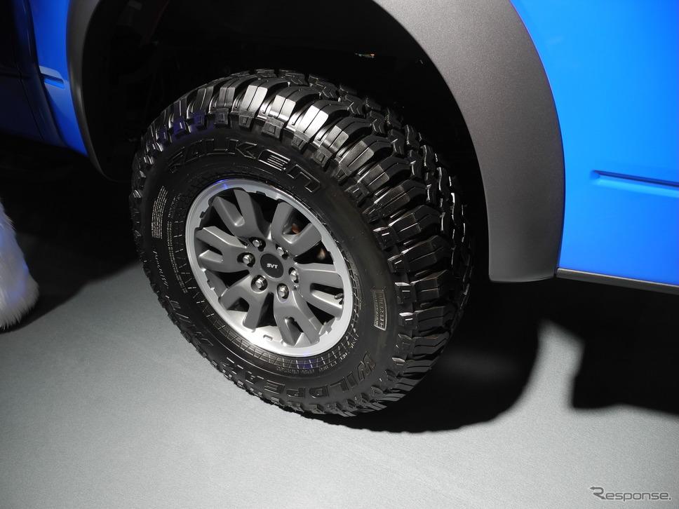 米国で販売しているオフロード用タイヤ「WILD PEAK」《撮影 山田清志》
