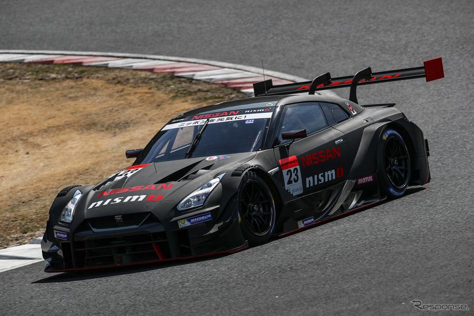 GT500クラス2日目総合5位タイムの#23 GT-R。《撮影 益田和久》