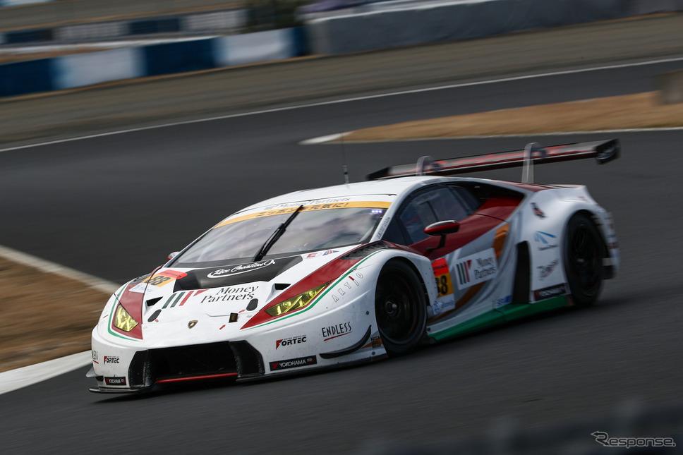 GT300クラス2日目総合5位タイムの#88 ランボルギーニ。《撮影 益田和久》