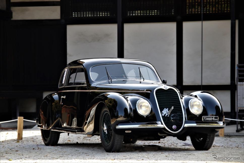 Touring Early Italian(1951年以前に作られたイタリアのメーカーでトゥーリングのボディを纏ったクルマで最も優れている)1939年アルファロメオ6C2500SSスポーツベルリネッタ《撮影  内田俊一》