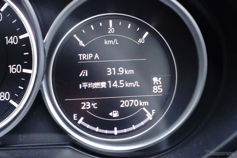気筒休止ガソリンの燃費計撮影 中村孝仁