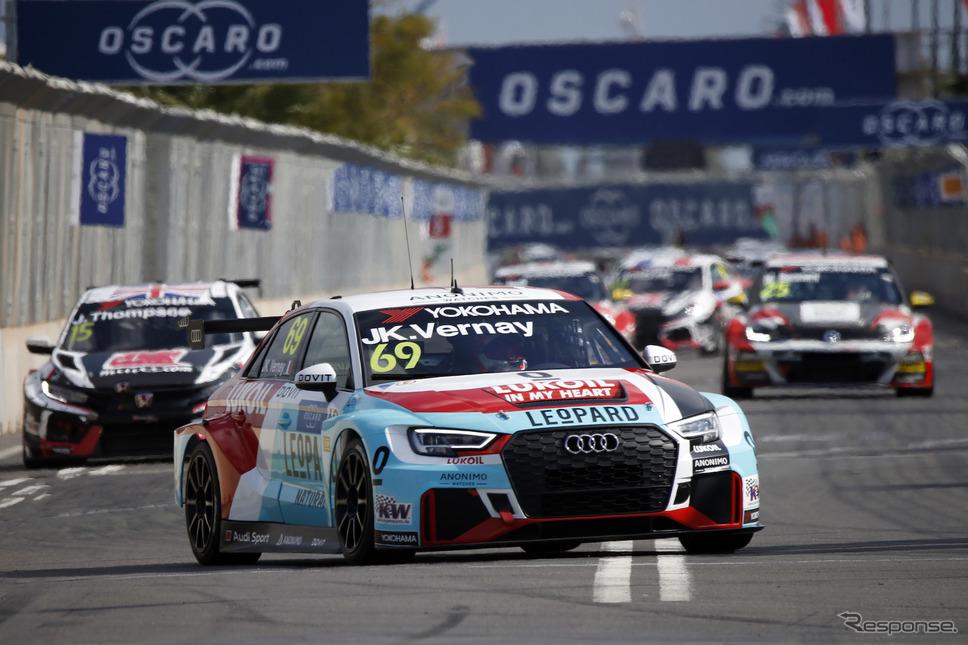 レース2で勝利したのはアウディのベルネイ。《写真提供 WTCR》