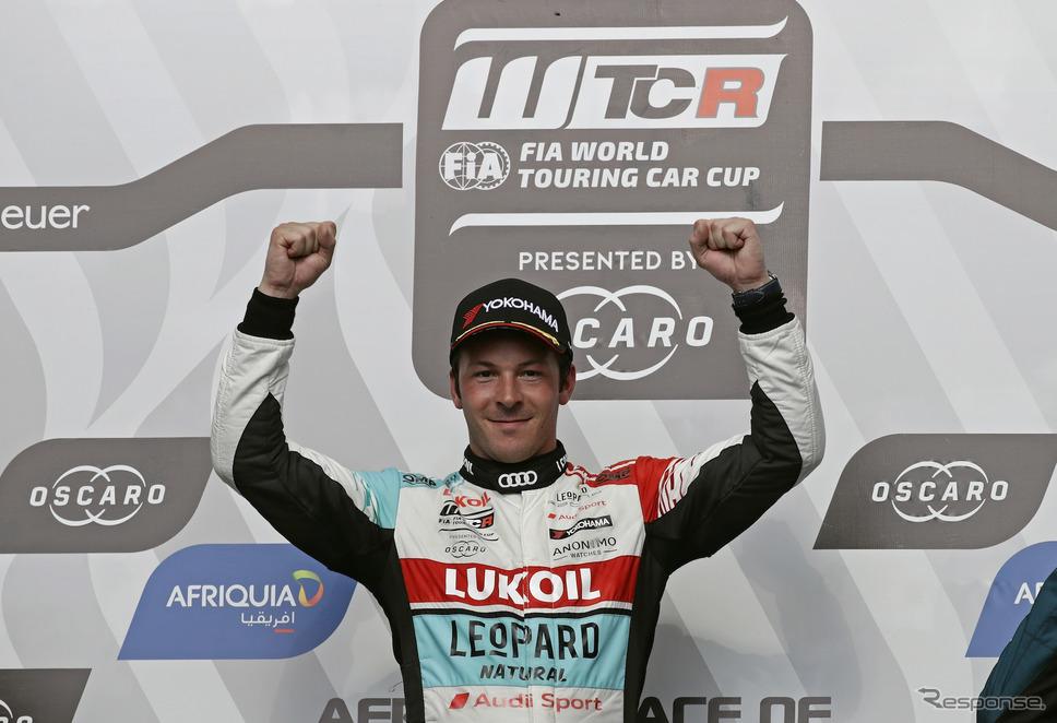 レース2で勝利したのはアウディのベルネイ。《写真提供 Audi》