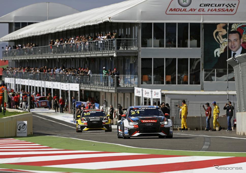 WTCR開幕戦「レース・オブ・モロッコ」の模様。《写真提供 Audi》