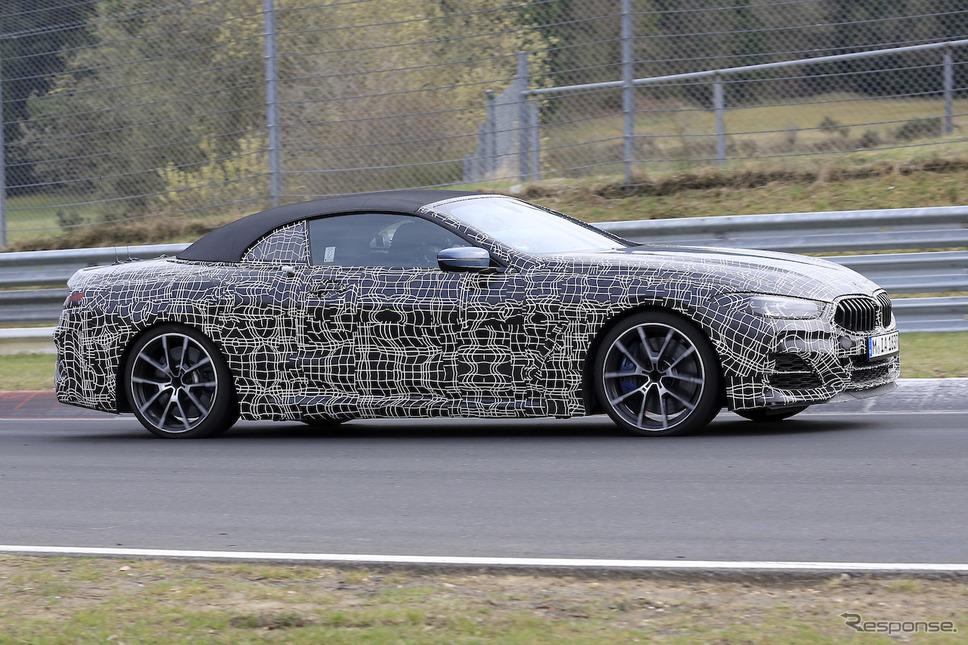 BMW M850i カブリオレ スクープ写真《APOLLO NEWS SERVICE》