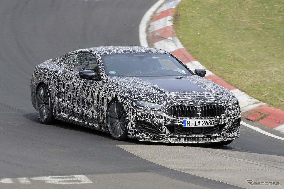 BMW M850i クーペ スクープ写真《APOLLO NEWS SERVICE》