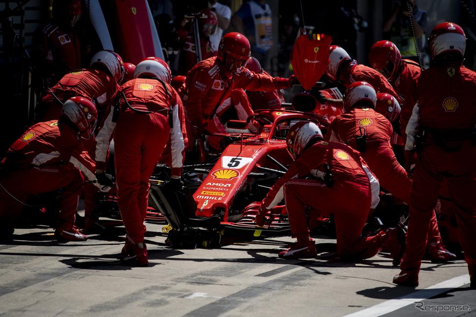 ベッテル(フェラーリ、F1イギリスGP)