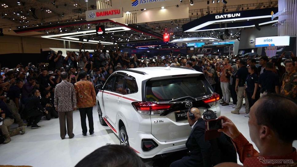 インドネシアで高い人気のダイハツだけに、プレスカンファレンスには大勢のメディアが来場した