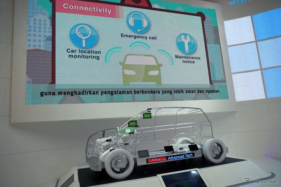 先進技術に関するモックアップモデル『DAIHATSU ADVANCED TECH』を出展