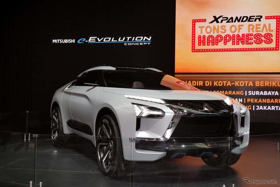 インドネシア初披露となった高性能電動SUV「三菱e-EVOLUTION」《撮影 会田肇》