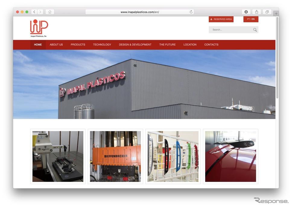 イナパル・プラスティコのウェブサイト