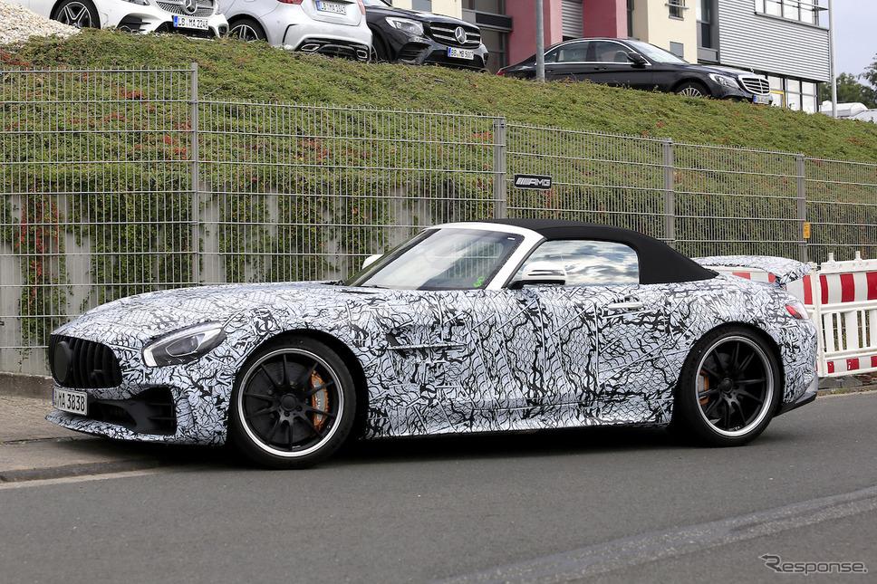 メルセデス AMG GT R ロードスター スクープ写真《APOLLO NEWS SERVICE》