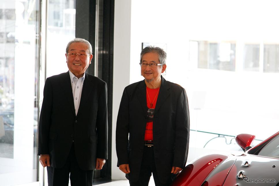光岡進氏(左)、永井豪氏(右)《撮影 佐藤隆博》