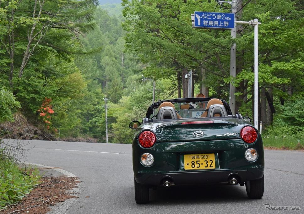 長野-群馬県境のぶどう峠へのアプローチ。《撮影 井元康一郎》