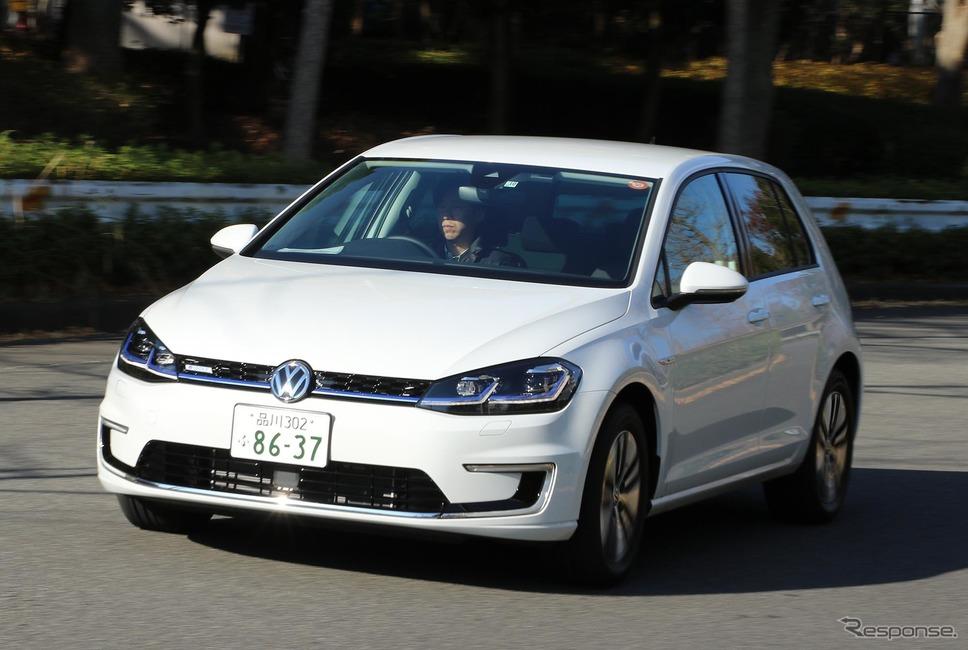 輸入車の多くは一見、ガソリン車か電動車かがわかりづらい傾向にある。写真はVW e-ゴルフ《撮影 平川亮》