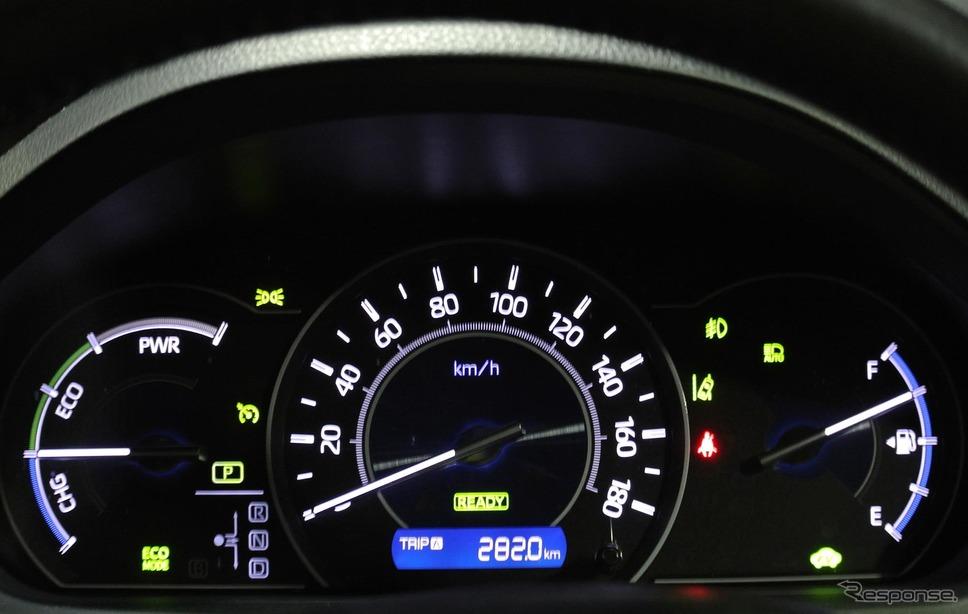 トラディショナルなインパネ。100km/h表示時にGPSで速度計測してみたところ、92km/hしか出ていなかった。ちょっと誤差が大きい。《撮影 井元康一郎》