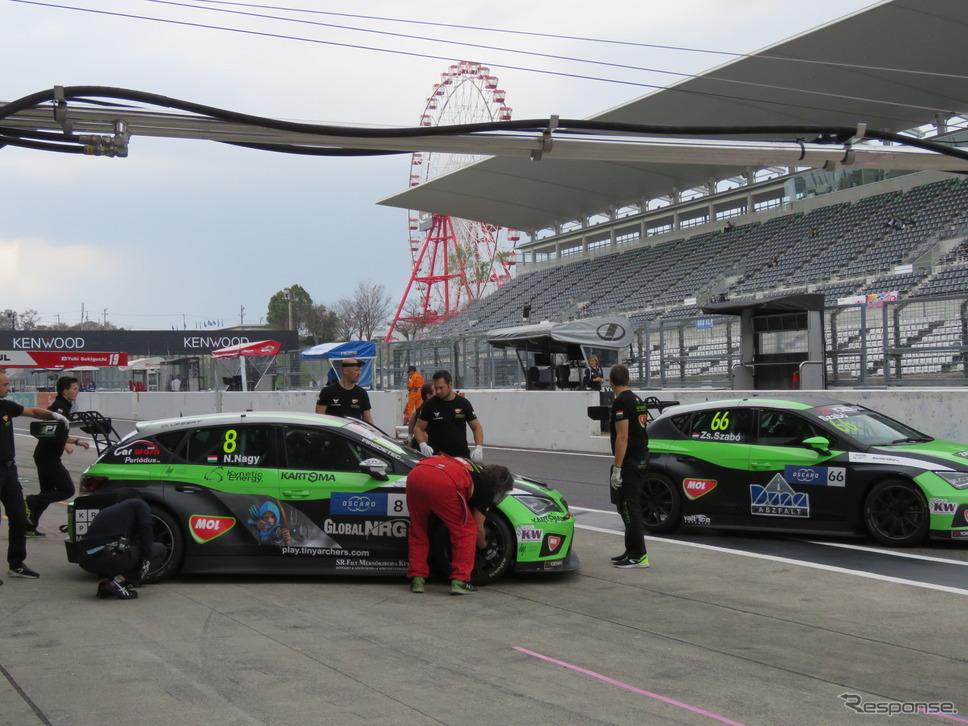 明日(27日、土曜)はWTCRのレース1決勝が行なわれる。《撮影 遠藤俊幸》