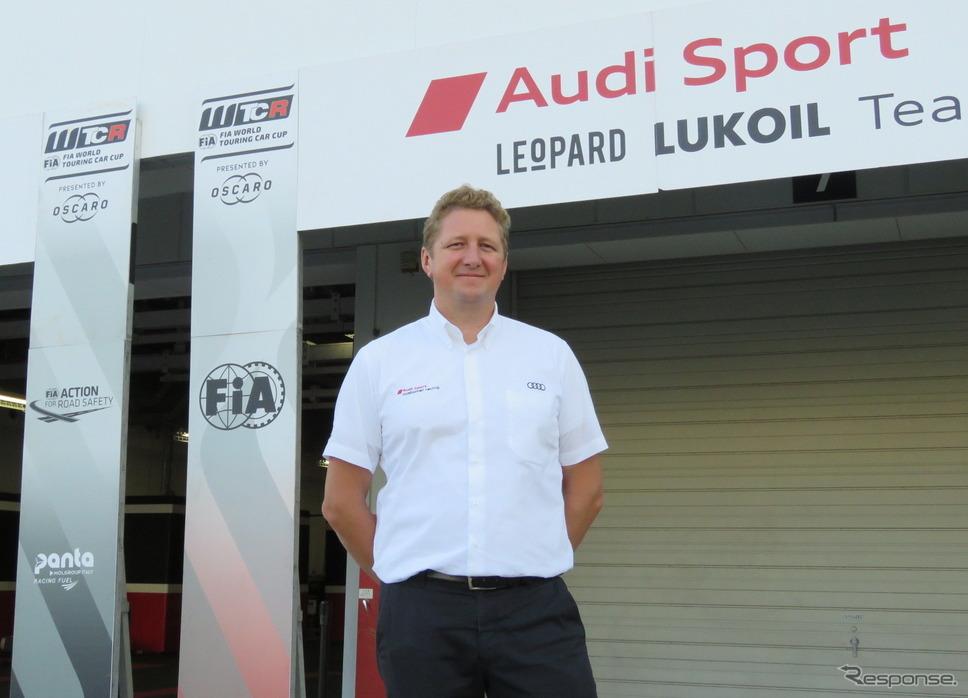 Audi SportのA.Hecker氏。《撮影 遠藤俊幸》